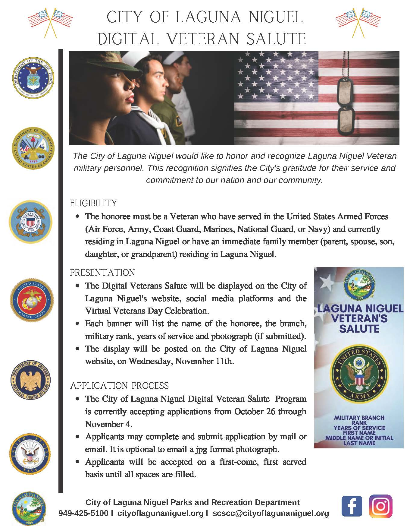 Veterans Day - Digital Veteran Salute Flyer